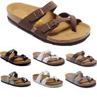 2020 Mayari 핫 판매 여름 남성 여성 플랫 샌들 코르크 슬리퍼 캐주얼 신발 혼합 색상에게 크기 US3.5-15.5를 인쇄 UNISEX