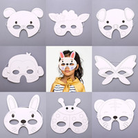 Çocuk Graffiti Yüz parçası Anaokulu Karikatür Hayvan Çizim Malzeme Paskalya Kalın Kart Süsleme Boyalı Diy Blank 0 56hbC1 Malzemeleri Maske