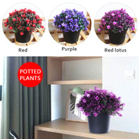 Plastic Home Decor Simulation Flower Office Simulated Potted...