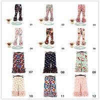 طفل الاطفال طفلة طباعة اللباس الداخلي الرباط السراويل أزياء الأطفال بنات بنطلون 0-6Y ل21 الألوان
