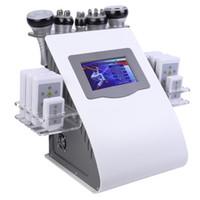 جديد 6 في 1 40K بالموجات فوق الصوتية التجويف شفط الدهون 8 سادة LLLT ليزر شفط الدهون وفقدان الوزن فراغ آلة RF المعدات الجسم غرفة العلاج