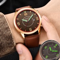 XINEW Men Wrist Watches  Leather Waterproof Quartz Analog Army Quartz watches men watch man  with date male clock
