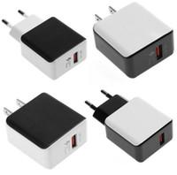 5V / 9V / 12V سريع سريع المسؤول QC 3.0 USB السفر الرئيسية الجدار شاحن محول ل XS ماكس XR فون