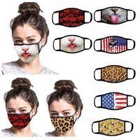 Nosotros stock, diseñador de algodón lindo divertido de la fiesta animado máscara para adultos contra la boca del polvo de mufla Máscara reutilizable lavable FY9120 Máscara