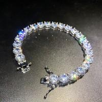 Iced Out Diamant Tennis Armbänder Herren Gold Silber Hip Hop Schmuck Hohe Qualität 8mm Zirkon Armband