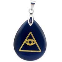 Collane pendente Triangolo geometrico Triangolo Ossidiano Eye GAOTAI La collana di moda di cristallo naturale creativo per le donne uomo
