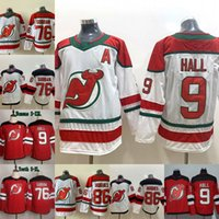 2019-20 Nuovo 9 Taylor Hall Jersey New Jersey Devils 76 P.K. Subban 13 Nico Hischier 86 Jack Hughes Mens Hockey donne gioventù maglie Rosso Bianco