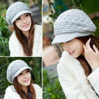 Casual Beanie Thickening Thermal Knitted Hat Women' s Rab...