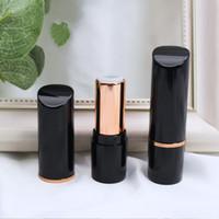 Rotondo elegante Rossetto spiovente coperchio del tubo Cosmetici fai da te vuoto Rossetto Tubi e nero Rose Gold Merci in 1 Stock 8lsH1