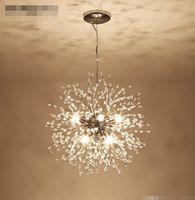 Современные светильники люстры Crystal Crystal Crystal Lighting Светильники цепные подвесные светильники для лестницы
