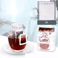 50pcs / lot Drip Coffee Filtro Bag Hanging portátil Ear Estilo Coffee filtros de papel Home Office Viagem Brew Coffee and Tools chá DBC BH2986
