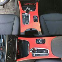 자동차 스타일링 새로운 3D / 5D 탄소 섬유 자동차 인테리어 센터 콘솔 색상 변경 BMW X3 F25 X4 F26 2011-17 용 스티커 데칼