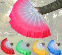 5 colores de seda china ventilador de la mano danza del vientre Aficionados cortos Fans de rendimiento de escenario Apoyos para fiesta SN3407