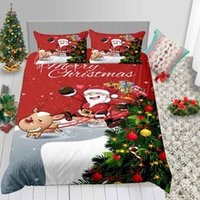 Cartoon Snata Bedding Set Christmas Gifts Classic 3D Duvet C...