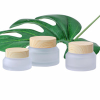 Garrafa de vidro frasco de vidro plástico frascos de vidro vazio creme frasco recipiente de embalagem cosmética 15g 30g 50g
