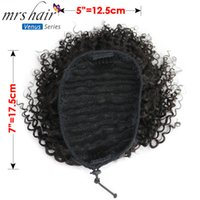 MRSHAIR Afro Kinky Curly Ponytails Virgin Hair Extensions Fo...