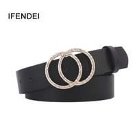 IFENDEI Fashion Women Belts For Women' s Jeans Gold Silv...