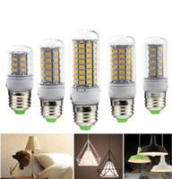 Lámpara LED Bombilla E27 E14 Luz de vela Bombillas 220V SMD 5730 Lámpara de decoración del hogar para lámpara Foco 24 36 48 56 69 106LED