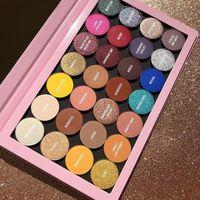 Palette di ombretti Kyle 28 colori Shimmer Matte Empty Palette grande Ombretto alto pigmento Una palette aperta Trucco.