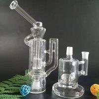 Nuovo idratubo di riciclo per vapexhale (11 pollici) con supporto in vetro di base di vetro (6 pollici) per tubo dell'acqua di vetro bong vaporizzatore EVO (GB-426)
