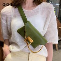 Shoulder Waist Bag Women Chest Purse Fashion Leather Chain Femme Bags Fanny Pack Belt Sac Banana Cute Afnci