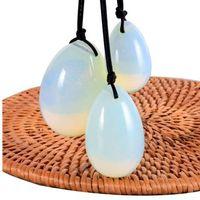 Jade Egg Set Bohrer Opalite Yoni Ei Mineral Quarz Stein Heilmassage Ball Kegel Übung Beckenbodenmuskel Für Frauen