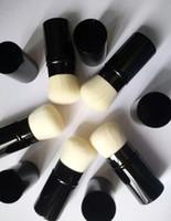 단일 브러시 RETRACTABLE KABUKI 브러쉬 - 박스 패키지 - 미용 화장품 메이크업 브러쉬 블렌더 50pcs / lot DHL 무료 배송