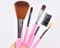 Top Hot 5pcs set Travel Portable Mini Eye Makeup Brushes Set...