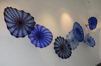 Рождество Декоративный синий украшение стены цветок Арт Стиль Рот Сгорел Murano Стеклянные пластины для камина лестничные декор стен