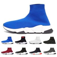 With Box Designer Sock Shoes Dark Blue Red Designer Sneaker ...
