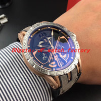 NEW Uhren orologio di Lusso automatische Sport Skelett Auto Art graue Gummiband RDDBEX0750 mechanisches EXCALIBUR Mens Vorwahlknopfmattuhr