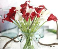 Venta al por mayor 13 colores disponibles Calla Lily Flowers PU DIY Bouquet Bouquet Home Fiesta Festival Decoración Artificial 34 cm Larga Decoración para el hogar