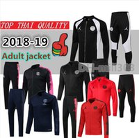 2018 2019 PSG Fußballjacke Trainingsanzug Survetement 18/19 Paris aj MBAPPE maillot de foot Langarm-Fußballjacken Trainingsanzug Chandal