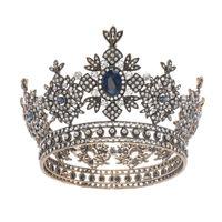 تاج العروس غطاء الرأس 2020 الأميرة زينة الشعر الأوروبية والأمريكية الرجعية الباروك دائرة سوبر الخالد الزواج الشعر مجوهرات هوب