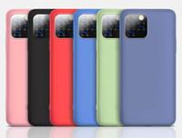 Caso applicabile coperture del telefono mobile del silicone liquido Soft Cell Phone gel della gomma molle dell'ammortizzatore Cover per iPhone 7 8plus XR X MAX 11