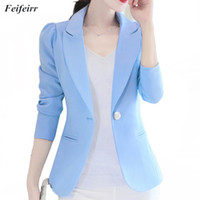 Blazer Jackets Korean version long- sleeved small Women Suit ...
