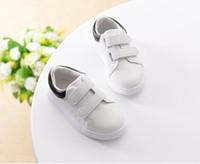 새로운 패션 유아 소년 소녀 운동화 아이 디자이너 스포츠 신발 캐주얼 트레이너 어린이 아기 화이트 운동화 ERU 크기 21-35