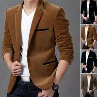 Tops Outwear M-3XL 4 renk Yeni Erkekler Akıllı Casual Blazer Slim Fit Biçimsel Bir Düğme Suit Blazer Ceket Ceket