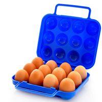 6PCS 12p جيم البيض صندوق التخزين المحمولة كاري حامل الحاويات البلاستيكية حالة قابلة للطي سلة السفر في الهواء الطلق نزهة البيض صندوق المنظم