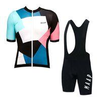 Yaz Erkekler Bisiklet Jersey Maap Ekibi Kısa Kollu Seti Nefes Hızlı Kuru Yarış Bisiklet Gömlek Önlüğü Şort Takım Bisiklet Kıyafetler 32286