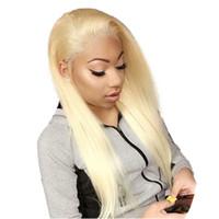 Fantasia beleza 613 Peruca 360 Rendas Frontal Perucas de Cabelo Humano Para As Mulheres Negras Pré Arrancadas Branqueada Nós Peruano Em Linha Reta Peruca Loira Remy cabelo