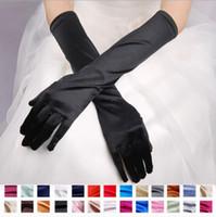 Hot vendendo dedo inteiro luvas nupciais vestido de noiva longo cetim matte casamento mangas protetor solar cicatrizes abaixo de luvas de comprimento de cotovelo
