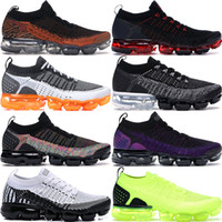 2019 Knit 2.0 Fly 1.0 CNY Safari Running Shoes Hombre Mujer BHM Red Orbit Metallic Gold Triple Black Designer Shoes Sneakers Trainers 36-45