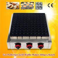 Commercial Non-bâton En Acier Inoxydable Gaz 100pcs Poffertjes Mini Hollandais Pancake Grill Gaufre Machine Approbation CE Tout Neuf