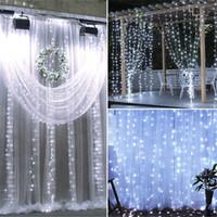 في الهواء الطلق أضواء الستار led 18 متر × 3 متر 1800-led الدافئة الأبيض ضوء عيد الميلاد الزفاف في الهواء الطلق الديكور سلسلة ضوء الولايات المتحدة الأسهم