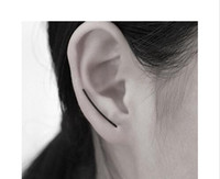 Punk Simple U Shape Earrings For Women Minimalist Ear Stud E...