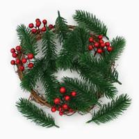 10pieces Искусственная хвоя сосны искусственные растения Филиалы Искусственные цветы на Рождество Главная украшения Xmas Tree DIY аксессуары
