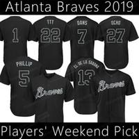 2019 선수 주말 닉네임 저지 오스틴 라일리 13 Ronald Acuna Jr Freddie Freeman Dansby Swanson Baseball Jerseys