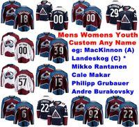 Colorado Avalanche jerseys de Matt Duchene Jersey Mark Alt Duncan Siemens Martin Spencer blanco marrón de hockey sobre hielo de los jerseys cosido personalizada