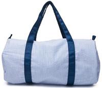 18 * 9 * 9.5 pulgadas Personalice Seersucker Duffle Bag Wholesale Blanks Kids Barrel Bag Prevpy Bolsa de viaje para niños